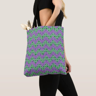 Tote Bag Motif de Chevron de parties scintillantes de rose