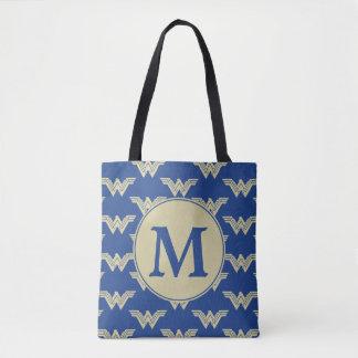 Tote Bag Motif de logo de femme de merveille de monogramme