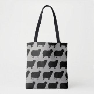 Tote Bag Motif de silhouettes de moutons noirs