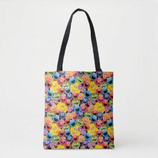 Tote Bag Motif de visages de caractère de Sesame Street