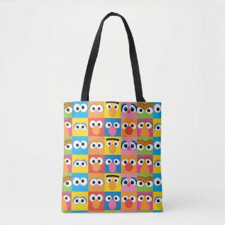 Tote Bag Motif de yeux de caractère de Sesame Street