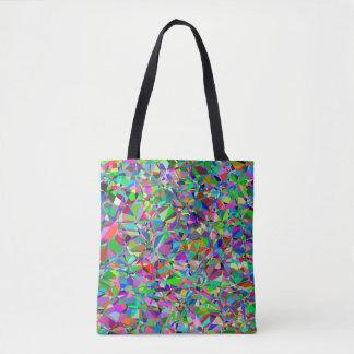 Tote Bag Motif en verre souillé d'abrégé sur couleur