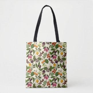 Tote Bag motif exotique peint à la main bidirectionnel de