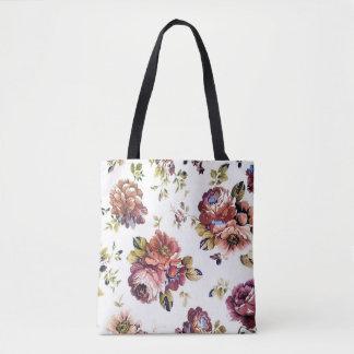 Tote Bag Motif floral vintage tout plus de - imprimez le