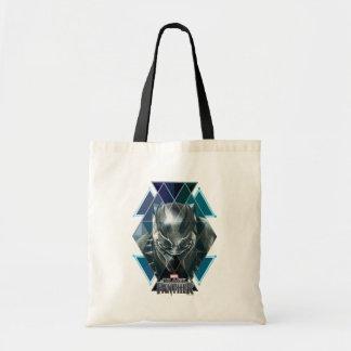 Tote Bag Motif géométrique noir de caractère de la panthère