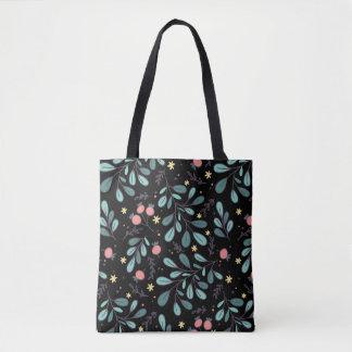 Tote Bag Motif illustré par plante peu précis vert mignon