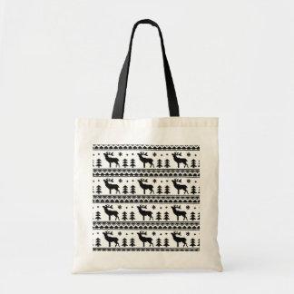 Tote Bag Motif juste de chandail de Noël d'île