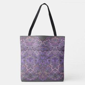 Tote Bag Motif lacé luxueux et élégant dans le faner-lilas
