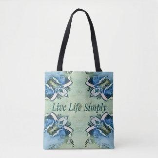 Tote Bag Motif moderne de la vie positive artistique de