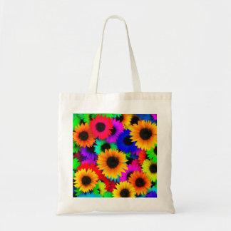 Tote Bag Motif psychédélique lumineux de hippie d'enfant de