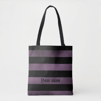 Tote Bag Motif rayé pourpre mignon