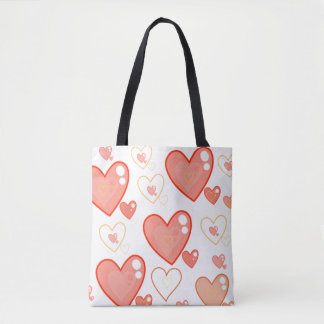 Tote Bag Motif rouge de Multi-coeur crossbody et