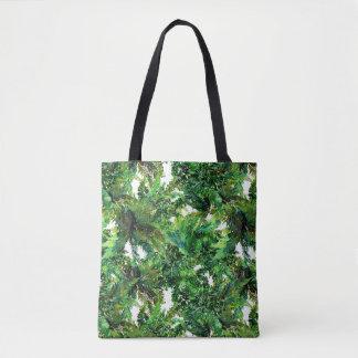 Tote Bag Motif vert de chute de forêt de fougère