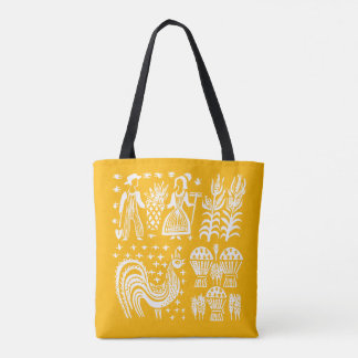 Tote Bag Motif vintage de Pyrex - orange de Butterprint