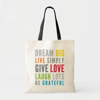 Tote Bag MOTS DE MOTIVATION À L'AMOUR PAR la typographie