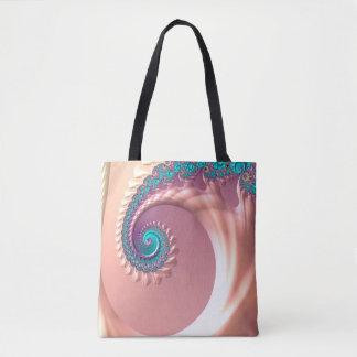 Tote Bag Mouvement giratoire lilas d'art d'abstraction