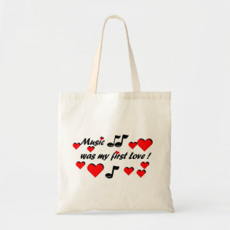 Tote Bag Music que my comble Love