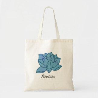 Tote Bag Namaste Lotus bleu Fourre-tout