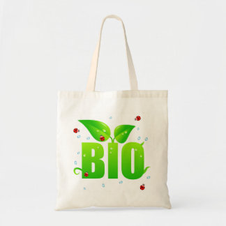 Tote Bag Naturel organique biologique vert