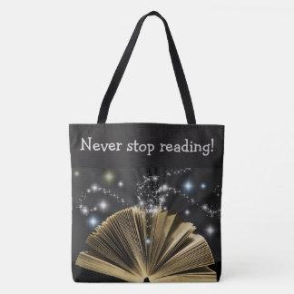 """Tote Bag """"Ne cessez jamais de lire !"""" Copie magique"""