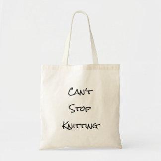 Tote Bag Ne peut pas cesser le tricotage