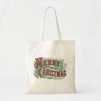Tote Bag Noël Fourre-tout avec le Joyeux Noël vintage