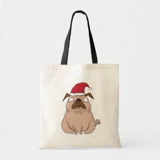 Tote Bag Noël grincheux drôle Fourre-tout de carlin de Père