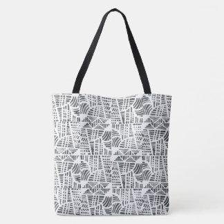 Tote Bag Noir de mosaïque