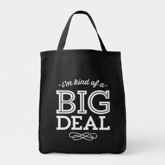 Tote Bag Noir et blanc je suis un peu une citation drôle d'