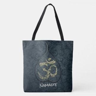 Tote Bag Noir et instructeur de YOGA de symbole d'OM de