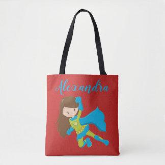 Tote Bag Nom de puissance de fille de héros de vol de