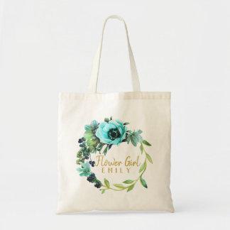 Tote Bag Nom turquoise ID456 de demoiselle de honneur de