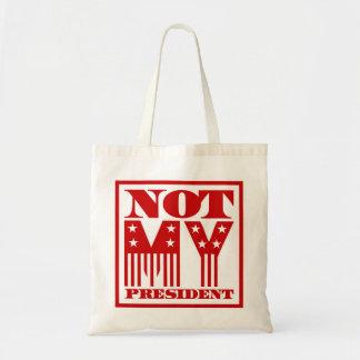 Tote Bag Non mon Président bannière étoilée rouge