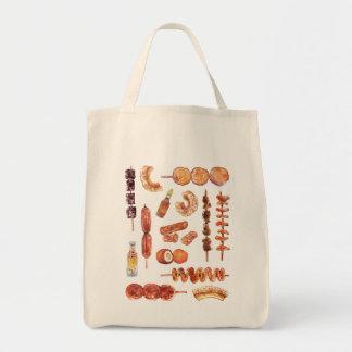 Tote Bag Nourriture philippine de rue dans l'aquarelle