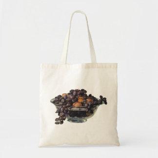 Tote Bag Nourritures vintages, noix et amandes, fruit et