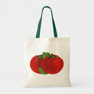 Tote Bag Nourritures vintages, tomate mûre rouge organique