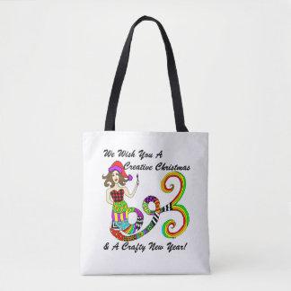 Tote Bag Nous vous souhaitons Noël créatif… Sirène
