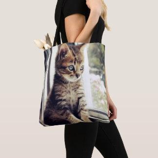 Tote Bag Observation tigrée de chaton
