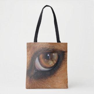 Tote Bag Oeil de la réflexion de beagle