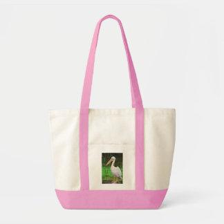 Tote Bag Oiseau rose de pélican avec le long bec