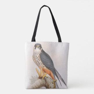 Tote Bag Oiseaux de John Gould de faucon de passe-temps de