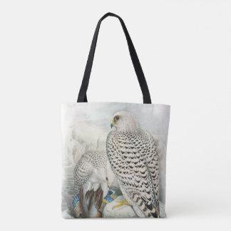 Tote Bag Oiseaux foncés adultes de faucon du Groenland de