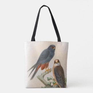 Tote Bag oiseaux Orange-à jambes de Gould de faucon de