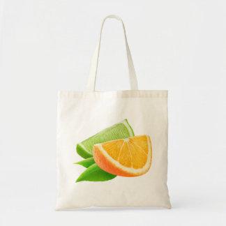 Tote Bag Orange et chaux