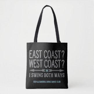 Tote Bag Oscillation de la côte ouest | de Côte Est de deux