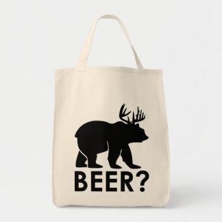 Tote Bag Ours drôle avec les klaxons = la bière ?