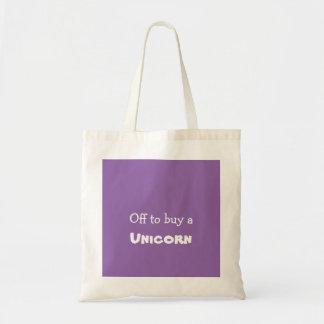Tote Bag Outre de pour acheter une licorne de billet