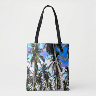 Tote Bag Palmiers tropicaux. Conception de Posterised