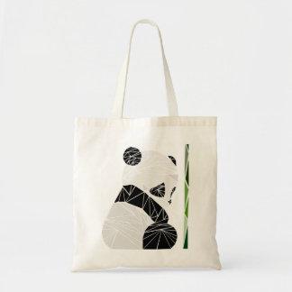 Tote Bag Panda triste géométrique