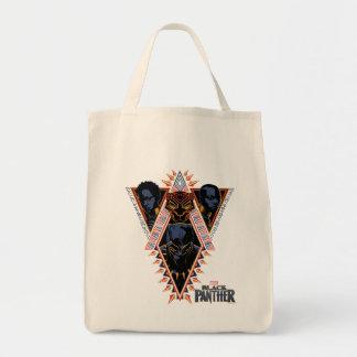 Tote Bag Panneau de tribal de guerriers de la panthère